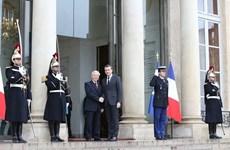 阮富仲总书记与法国总统埃马纽埃尔·马克龙举行会谈