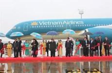 越共中央总书记阮富仲出席越航A350飞机接收仪式