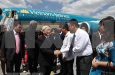 越共中央总书记阮富仲开始对古巴进行国事访问