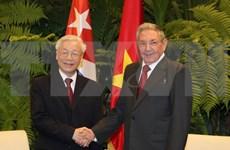 越南与古巴发表联合声明