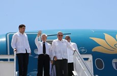 越共中央总书记阮富仲造访古巴圣地亚哥