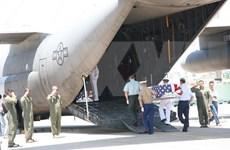 越南战争失踪的美国军人遗骸归国仪式在岘港举行