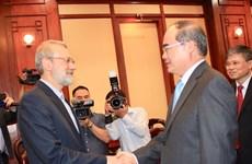 胡志明市市委书记阮善仁会见伊朗议会议长拉里贾尼