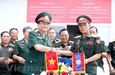 越南向老挝国防部移交作战模拟训练中心