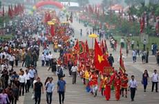 2018年雄王忌日与雄王庙庙会:250万游客人数前来烧香逛庙会