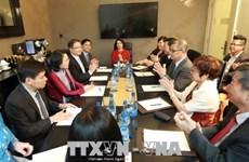 越南国家副主席邓氏玉盛会见美国首任驻越大使
