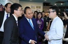 阮春福总理走访新加坡管理大学