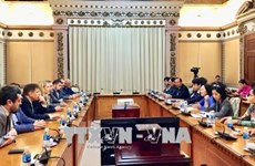 胡志明市领导会见乌克兰与越南友好议员小组主席