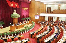 越共十二届中央委员会第七次全体会第一天新闻公报