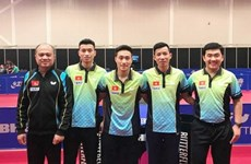 越南乒乓球队获得世乒赛团体赛第二层级的入场券