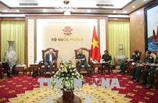 越南国防部副部长阮志咏上将会见国际战略研究所亚洲区执行长