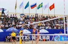 2018年世界女子沙滩排球锦标赛在广宁省下龙市巡州举行