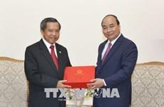 越南政府总理阮春福会见老挝科学技术部部长