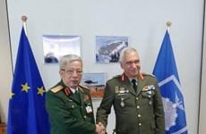 阮志咏上将率团出席欧盟军事委员会会议
