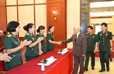 阮富仲:在反腐败反浪费斗争中,军队应发挥模范带头作用