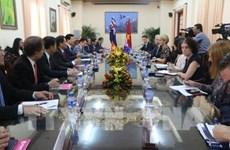 政府副总理礼节性会见澳大利亚外长朱莉·毕晓普