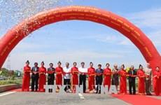 跨前江的高领大桥正式竣工通车  政府副总理郑廷勇出席