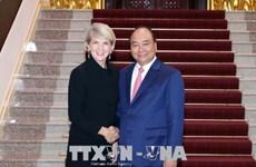越南政府总理阮春福会见澳大利亚外长毕晓普