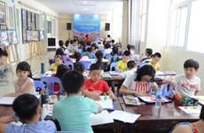 """六一国际儿童节:国际儿童参加""""我爱河内""""画画比赛"""