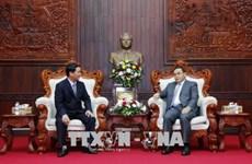 越老两国阵线之间的合作有助于加强两国团结友谊