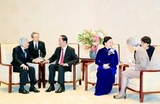 越南国家主席陈大光会见日本明仁天皇