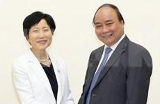 越南政府总理阮春福会见全球环境基金首席执行官兼主席石井菜穗子