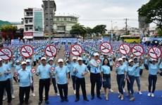 越南全国各地响应2018年国家无烟周活动