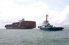 越南巴地头顿省成功救助在盖梅施威港口搁浅的货船
