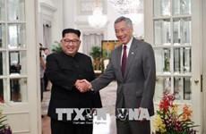 """""""特金会""""前夕:李显龙会见金正恩 新加坡外交部发表声明"""