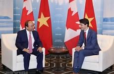加拿大总理贾斯廷感谢越南政府总理阮春福赴加出席G7峰会扩大会议