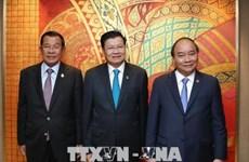 阮春福与柬老缅三国领导人举行会晤