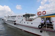 平顺省潘切市至富贵岛高速客船正式投入运行
