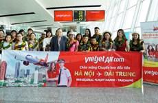 越捷航空公司迎来河内至台中首个直达航班