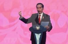 印尼总统会见日本外务省大臣河野太郎