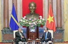 越南国家主席陈大光会见瑙鲁共和国总统