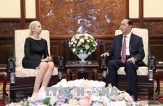 越南国家主席陈大光会见挪威驻越大使