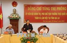越南国会常务副主席丛氏放: 提高儿童生活质量