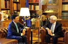 越南政府副总理兼外交部长范平明对希腊进行正式访问