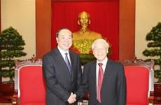 越共中央总书记阮富仲会见中国共产党代表团