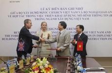 越南建设部与英国外交和联邦事务部共同合作发展BIM模型