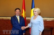越南政府副总理兼外长范平明对罗马尼亚进行正式访问