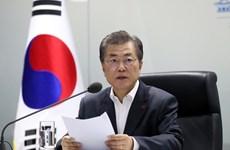 韩国大中型企业代表将陪同文在寅访问新加坡