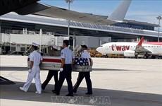 越南向美国移交在越南战争期间失踪的两具美国军人遗骸
