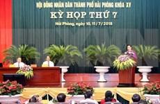 阮氏金银出席海防市人民议会第七次会议