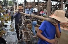 柬埔寨金边发生火灾  越裔近60间房屋被烧毁
