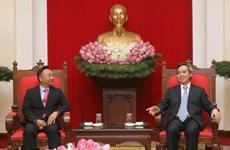 中央经济部部长阮文平会见DELL EMC集团干部代表团