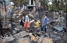 柬埔寨越侨区火灾事件:受火灾影响的越侨生活逐渐恢复正常