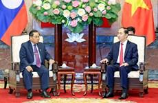 越南国家主席陈大光会见老挝国会副主席森暖