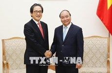 政府总理阮春福会见日本贸易振兴机构理事长石毛博行