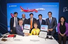 越捷与波音签署购买100架飞机的合同
